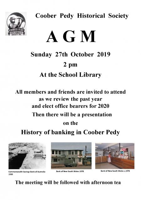 CPHS AGM Poster 10/19